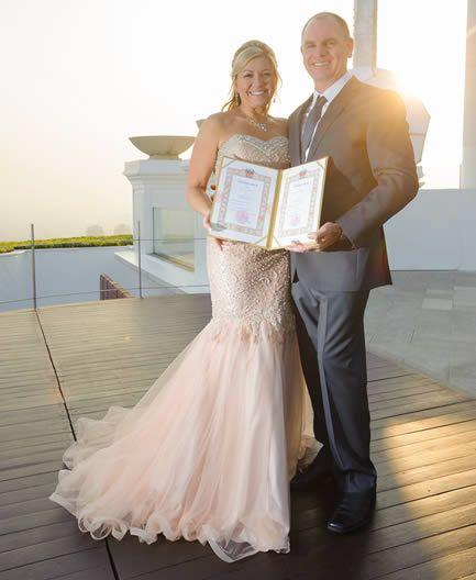 thai marriage certifcate at beach